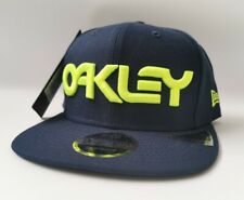 NEW ERA OAKLEY 9Fifty 6 Panel Snapback Hat Cap - Foggy Blue & Neon New with Tag