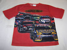 V8 Supercars Holden Ford Boys Red T Shirt Top Size 14 New