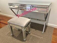 X-leg Vanity Makeup Dressing table and Mirrored Stool - Mirror furniture