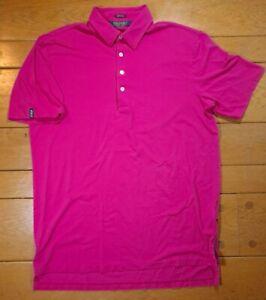 Ralph Lauren Polo Golf Stretch Listle Pink/Magenta Soft Polo Shirt Sz Large EUC