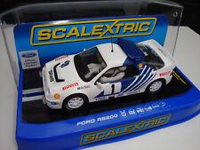 C3493 Scalextric Nuovo Di Zecca in Scatola FORD RS200 STIG BLOMQVIST con luci di lavoro.