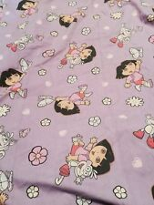 Dora the Explorer Toddler Bed 2 Piece Sheet Set Pale Purple Flat/ Fitted Fabric