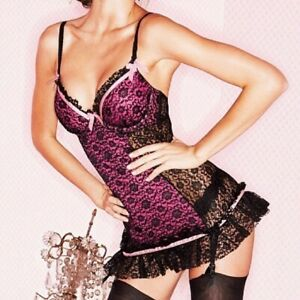 Victoria's Secret • Sexy Little Things Lace Garter Slip Size 34B