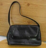 Kenneth Cole Reaction Black Glazed Leather Ladies Purse Handbag  Shoulder Bag