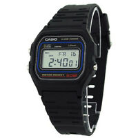 Casio Men's Casual Classic Digital Alarm Micro Light Black Resin Watch W59-1V