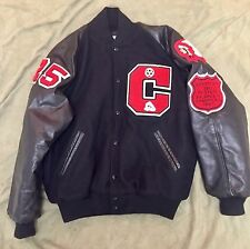 vtg 90s mens usa wrestling state champion runner up letterman jacket coat sz l