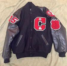 Vtg 90s Mens USA Wrestling State Champion Runner Up Letterman Jacket Coat Sz L