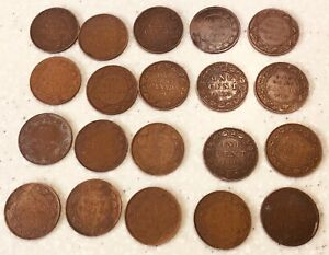 1876-1919 Canada 1 cent Coins  x 20