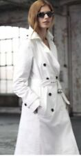 Anthropologie White Meadow Rue Cotton Rain Trench Coat $268 size US 10 Uk 14