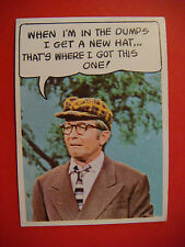 """1968 Topps Rowan & Martin's """"Laugh In"""" Trading Card #4 ~ This Hat From the Dumps"""
