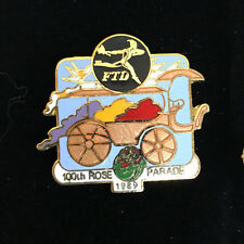 FTD Flowers 100th Tournament of Roses Parade Bowl Game 1989 Cloisonne Pin Rare