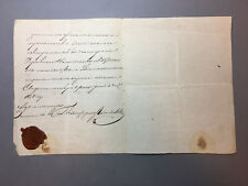 ANTIQUE RUSSIAN EMPIRE DOCUMENT LETTER 19 Century