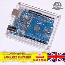 Arduino Uno R3 Cáscara Recinto Caso De Acrílico Transparente Caja Ordenador