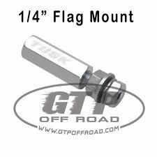 """Tusk 1/4"""" Silver Quick Release Flag Pole Holder Mount atv utv sxs whip sand mx"""