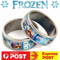 Disney Frozen Princess Anna Queen Elsa Film Rings Kids Ring Favour Necklace Gift