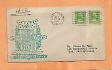 LONG BEACH STAMP CLUB APR 2,1932 LONG BEACH CA  SIGNED  VINTAGE ENVELOPE +