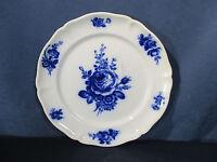 Villeroy Boch Antique Mettlach Dinner Plate Blue Rose Vintage Green Backstamp