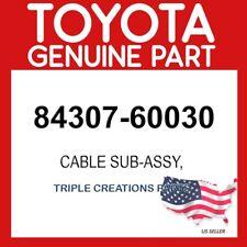 TOYOTA GENUINE 8430760030 CABLE SUB-ASSY, SPIRAL W/SENSOR 84307-60030