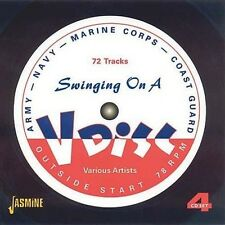 SWINGING ON A V-DISC - GLENN MILLER, JIMMY DORSEY, ROY ELDRIDGE - 4 CD NEU