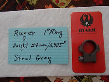 "Ruger Stainless Steel 1"" Scope Ring, Height 0.925"", Fits M77 rifles"