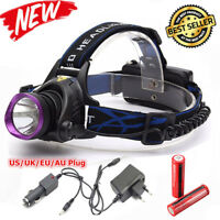 30000LM LED Rechargeable Headlight Torch T6 Headlamp Head Light Lamp USB 18650 Z