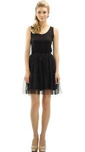 Ribbed Knit Tank Top Full Slip with Tulle Skirt Bottom