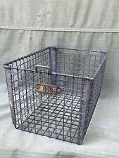 Vintage #858 LYON METAL Products Metal Wire Locker Basket Gym P.E. Old school