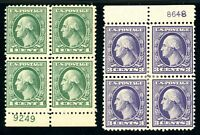 USAstamps Unused VF US Offset Printing Plate Blocks Scott 525 MNH, 529 OG MHR
