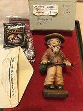 Vintage 6� Anri Juan Ferrandiz Carved Wood Friends Boy w/ Bunny Figurine