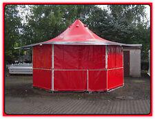 Verkaufsstand Marktstand Grillstand Imbiss 16,3m² / rot-schwarz