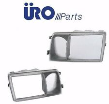 Mercedes w126 URO Headlight Head Light Door Rim L+R Head Lamp Lens Trim