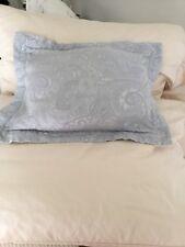 Ralph Lauren Suite Light Blue Decorative Pillow With Feather Insert Pillow