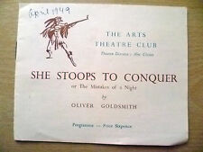 The Arts Theatre Club 1949- SHE STOOPS TO CONQUER by Oliver Goldsmith
