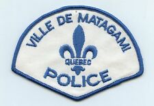 Ville de Matagami Police, Quebec, Canada HTF Vintage Uniform/Shoulder Patch