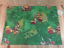 TEENAGE MUTANT NINJA TURTLES Twin Bed Flat Sheet Green 2014 Nickelodeon