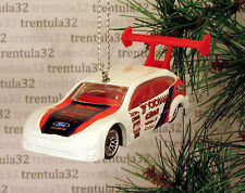 YOKOHAMA FORD FOCUS RACE CAR RACING WHITE RED CHRISTMAS TREE ORNAMENT XMAS