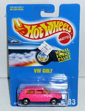 Hot Wheels Blackwall VW GOLF W/BLACK BASE *MOC 1991 Malaysia