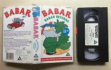 BABAR - BABAR RETURNS - VHS VIDEO