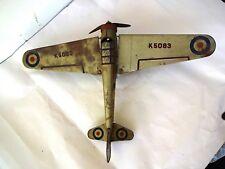 """Mettoy 1930 """" S Mécanisme Boite Jouet Monoplane Rare K5083 Fabriqué en"""