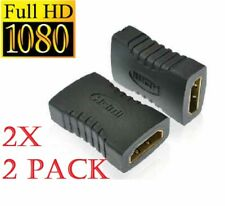 2x HDMI Female to Female Adapter EXTENDER COUPLER CONNECTOR JOINER for TV HD