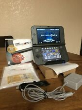 Nintendo New 3DS XL 64GB Black CIB In Box Charger AR Cards Bundle