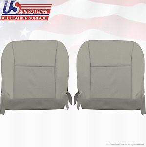 Fits 2010-2012 Lexus RX350 Driver-Passenger Bottom Perforated Leather Cover Gray