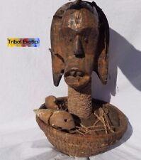 PREMIUM Tribal African Art - Fang Bieri Reliquary Figure Sculpture Statue Mask