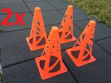 """8x Safe Collapsible Marker Cones 9"""" Sport Soccer Rugby Football Tennis Training"""