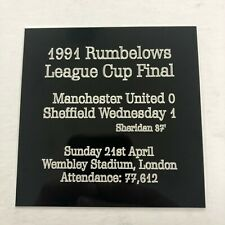 Any European Cup Final - Huge Engraved Plaque with Team Details, Venue & Scorers