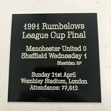 Any FIFA World Cup Final - Engraved Plaque with Team Details, Venue & Scorers
