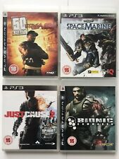 PS3 Game Bundle Space Marine+50cent Blood On The Sand+Bionic Commando+JC 2-1069