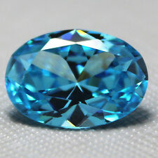 Unheated 7.38ct VVS Light Blue Sapphire 10X12mm Oval Cut AAAA+ Loose Gemstone