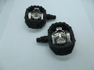 Shimano PD M424 Flat and SPD Pedals Pop up Binding MTB HYbrid PD219
