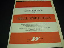 Bruce Springsteen A Conversation on Westwood One. 1984 Promo Poster Ad mint